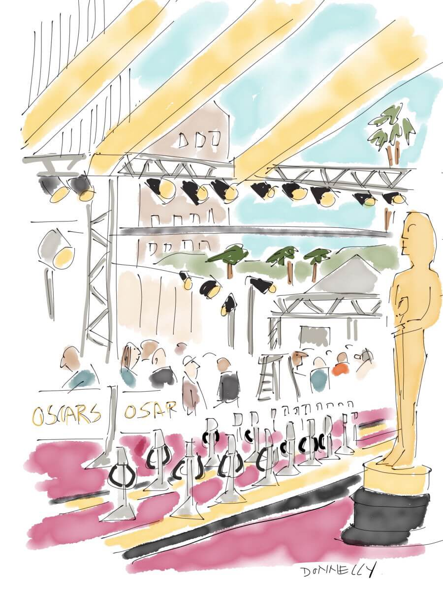 Liza Donnelly Live Drawing Oscars 2016