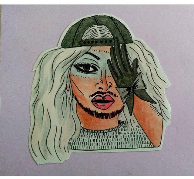 Karmen Wessel Drag Queen Drawing