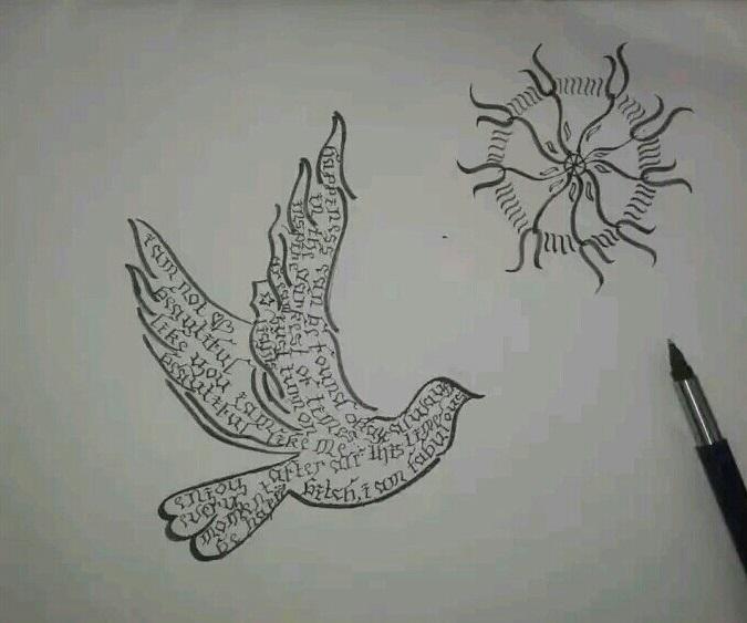 Calligraphy by Aishwarya Patil