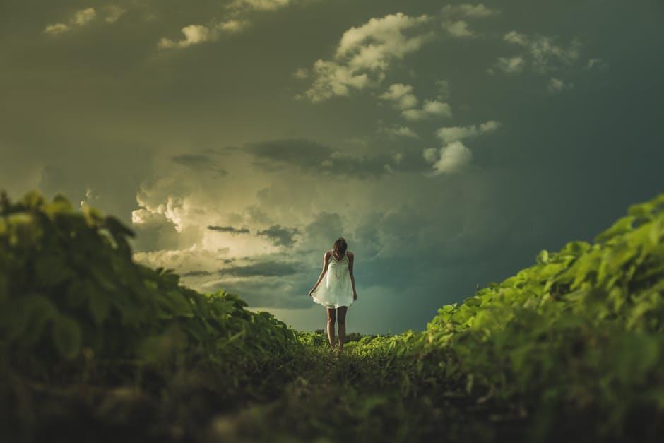 woman-sky poetry