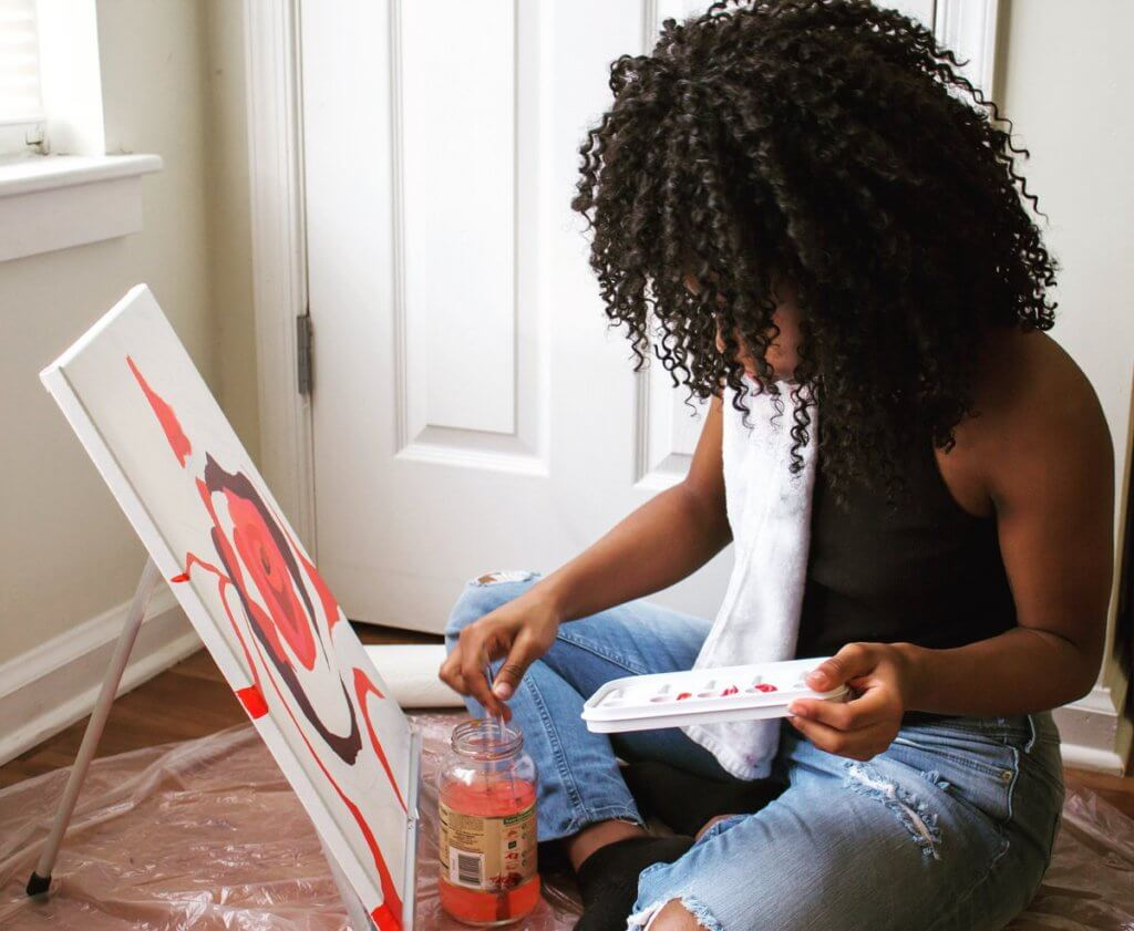 Calah Jones painting