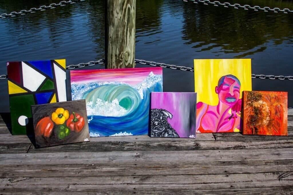 Calah Jones paintings