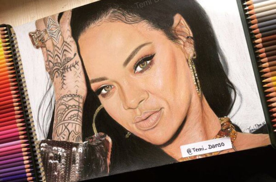 Temi Danso - Rihanna Drawing