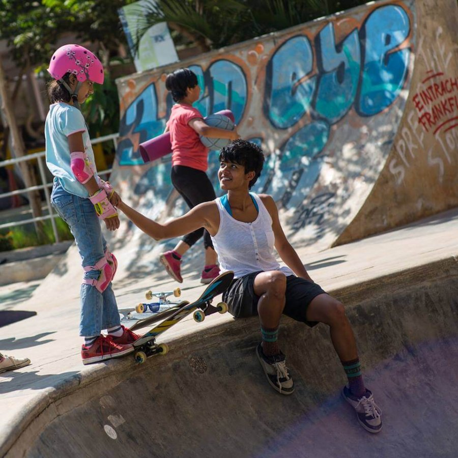 Atita Verghese skateboarding girl
