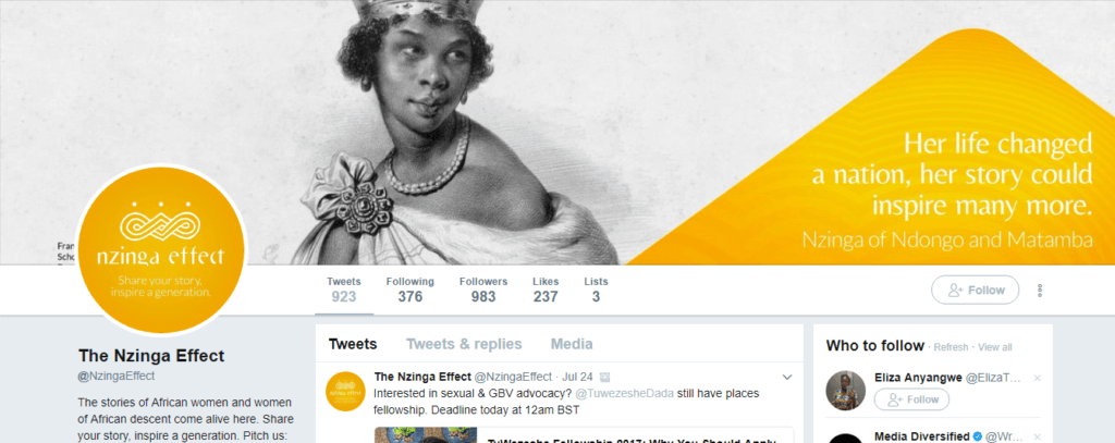 The Nzinga Effect Twitter