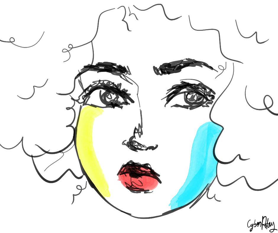 Kaoutar El Karkraoui girl art