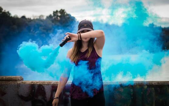 blue spray women