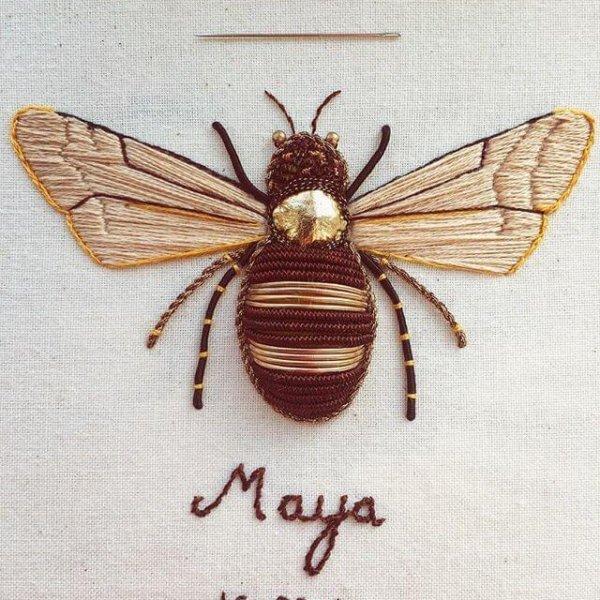 Humayrah Bint Altaf embroidery