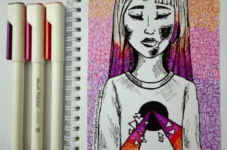 Maryam Manzar Artist and Chemistry Student