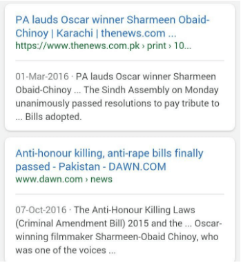 Sharmeen Obaid - Girl Issues - Honor Killing