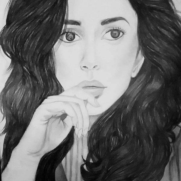 Ushna Khan - Pencil Art