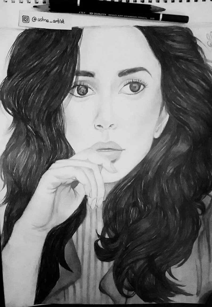 Ushna Khan - Pencil Art
