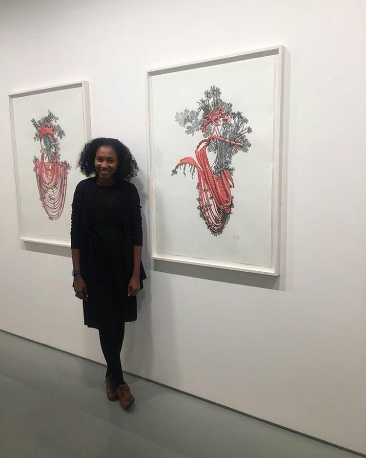 Taiye-Idahor-Benin Beads - Okhuo - Tyburn Gallery